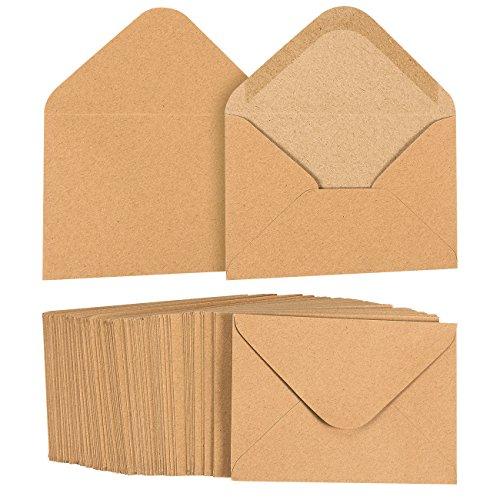 Lot de 100Kraft Brun Sac à provisions papier A1enveloppes pour 3x 5cartes...