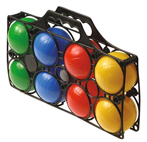 Sport-Thieme Boccia Set | Boulespiel mit 8 wassergefüllten Kugeln, Zielkugel, Tragetasche | Jede Kugel: ø 80 mm, je 215 g | Für Erwachsene u. Kinder | Bunt | Markenqualität