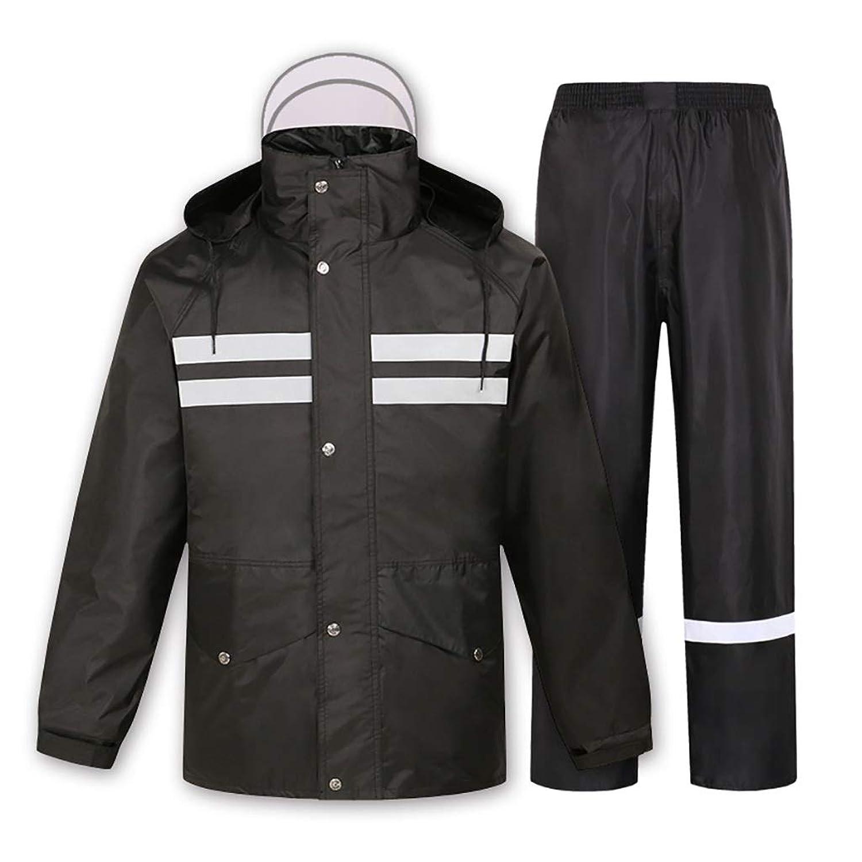 レインコートズボン分割スーツ大人用防水防風自転車オートバイ乗馬作業キャンプ釣り黒 (サイズ さいず : M)