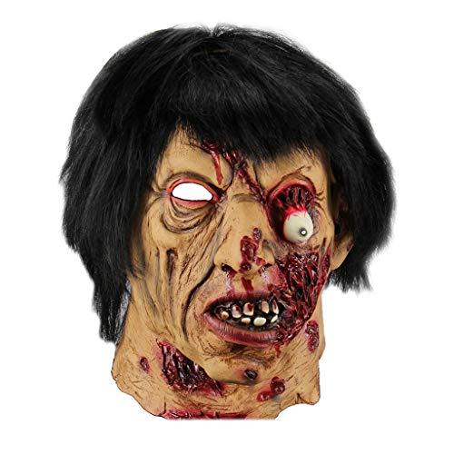 DYHOZZ Horror de Halloween Máscara de Fantasma Máscara de Zombie Muerte Demonio Sangre Máscara Facial Accesorios de Miedo
