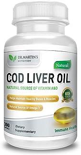 COD Liver Oil | 300 Softgels | Natural Source of Omega 3 Fatty Acids | Triple Strength | Best Immune Health, Healthy Bones...