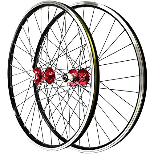 TYXTYX Juego de Ruedas de Bicicleta de montaña 26 Llantas de aleación de Doble Pared de liberación rápida Disco/Freno en V Bujes de cojinetes sellados de Bicicleta 3 trinquetes Cassette de 7-11 v