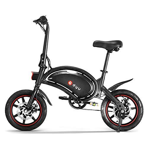 Roeam Bicicletas eléctricas,Bicicleta eléctrica montaña, Bicicleta eléctrica Plegable de 14 Pulgadas con Asistencia eléctrica, ciclomotor, batería 6AH, Rango máximo de 20 a 40 km