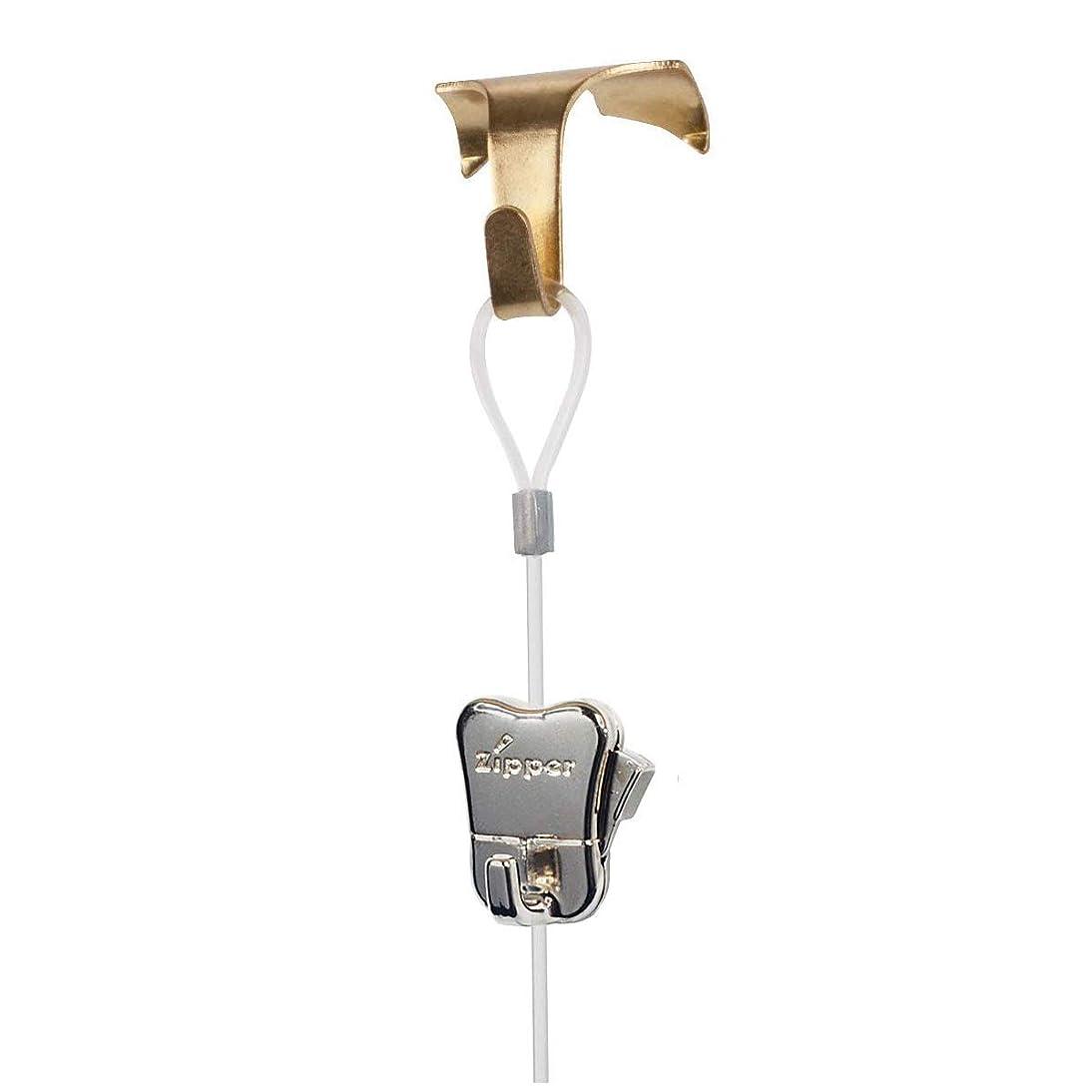 4 Pack each STAS Moulding Hooks + Perlon Cords with Loop + Zipper Hooks (59