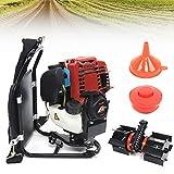 DNYSYSJ Backpack Multi Petrol Hedge Trimmer Tiller Cultivator Lawn Mower Yard Garden Grass Cutter Trimmer Single-Cylinder 4-Strokes 1.4HP 1KW