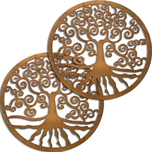 Spruchreif PREMIUM QUALITÄT 100{edbfb9aa78dfef08489ef72f95ef0e1fdd9891c87d0f94b1871dc1130432e11f} EMOTIONAL · Baum des Lebens aus Holz in einem 2er Set Ø 18 cm · Wanddeko · Lebensbaum Symbol · Esoterik Geschenke · Deko · Holzdeko · Spiritualität