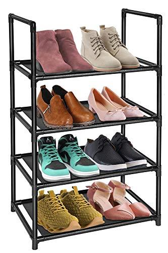 Esonstyle Zapatero de 8 Niveles, 16 – 20 Pares, Estante Resistente para Zapatos