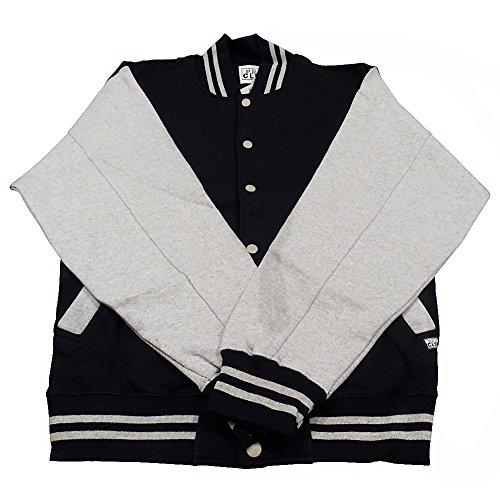 Pro Club Varsity Fleece Baseball Jacket (3X-Large, Grey-Black)