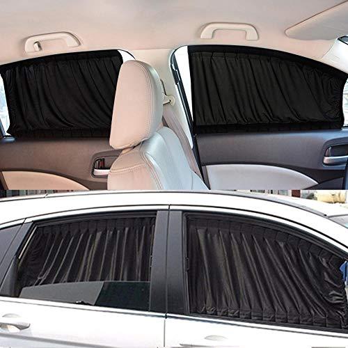Huien auto zonnescherm raam zonnescherm draperen vizier volant gordijn voorruit zonnescherm verstelbare opvouwbare auto styling, zwart
