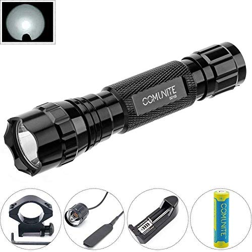 Comunite 501B 1000 Lumen Cree XML T6 LED Flashlight with Mount Remote Pressure Switch(Include 18650 Rechargeable Battery &Charger) White Light