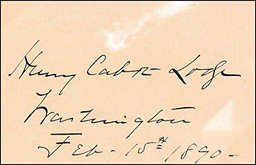 Henry Cabot Lodge Sr. - Finally popular depot brand 1890 02 15 Signature