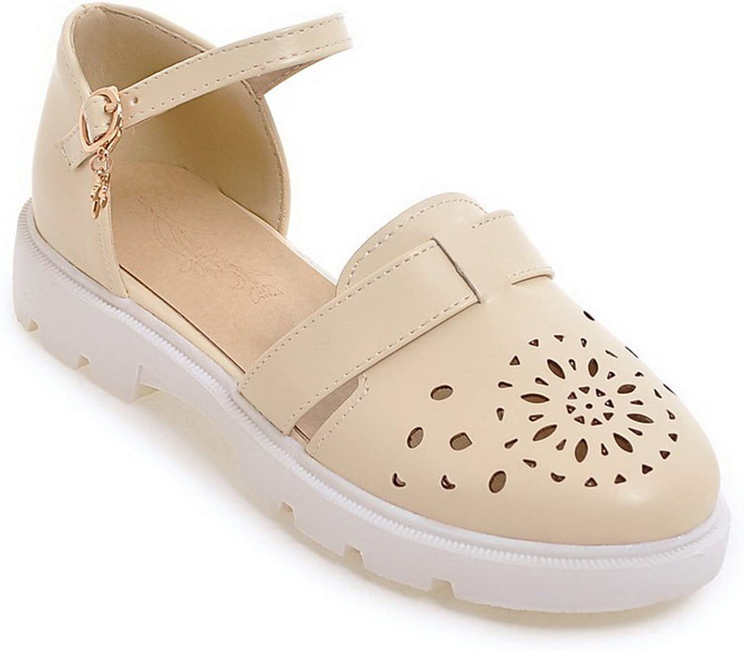 AN Womens Baguette-Style Solid Oversized Urethane Sandals DIU00766