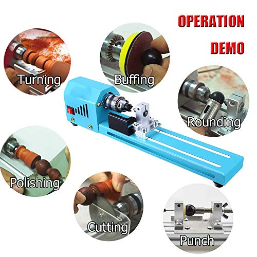 Best Review Of QWERTOUY 150W Mini Lathe Beads Grinding Polisher and Polishing Beading Machine DIY Wo...