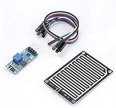 HoganeyVan 5V LED Sensor de Lluvia Gotas de Lluvia Detección de Agua Humedad Humedad Kit de módulo para Arduino Detector de Clima Monitor con Cable