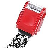 Identity Privacy Protection Roller Stamp Información Cobertura Protector de datos Desordenado Código Roller Stamp