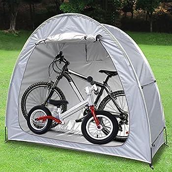 Tente Extérieure Pliable de Hangar Stockage, Tente de Vélo Hangar de Stockage de Vélos Tente Abri de Stockage de Vélo pour Ranger des Vélos, des Motos, des Outils (Gris)
