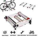 LUCKFY Indoor Retractable Bicycle Rollers - Bike Trainer Stand - Adjustable Indoor Fitness