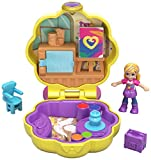 Polly Pocket Mini-Coffret L'Atelier de Peinture avec mini-figurine, surprises et accessoires, jouet enfant, GCN10