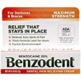 Benzodent Dental Pain Relieving Cream, 1 Ounce - Buy Packs and SAVE (Pack of 3)