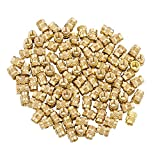 iplusmile Brass Nuts Embedment Nut M3 Thread Brass Knurled Nuts Threaded Heat Set for Printing 3D Printer and More Projects (100pcs)