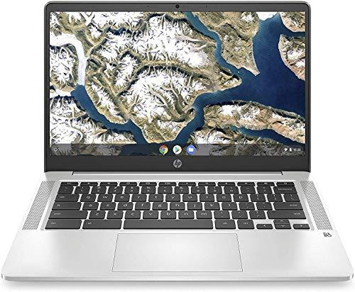 2020 HP Chromebook 14-Inch FHD Laptop, Intel Celeron N4000, 4GB RAM, 64GB EMMC , WiFi, Webcam, Bluetooth, USB-C , B&O Audio ,Chrome OS with Mouse and Sleeve, Silver