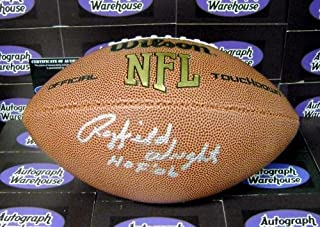 Rayfield Wright autographed Football inscribed HOF 06 (Dallas Cowboys Ring of Honor Super Bowl) AW Certificate of Authenticity