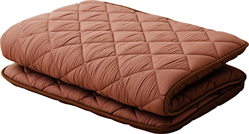 EMOOR, Polyester, Japanese Futon Mattress Cleo(39 x 83 x 2.5 in.), Twin-Long Size, Brown, Made in Japan