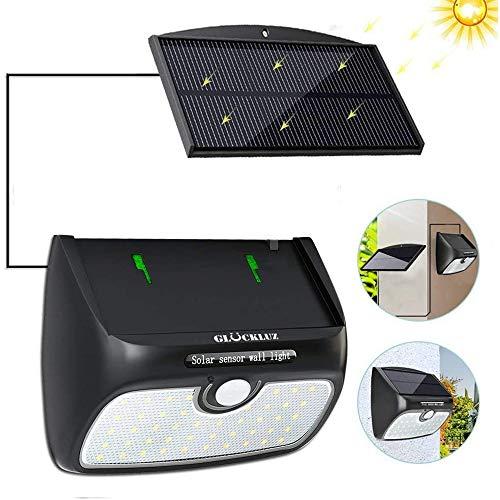 Glückluz Lámpara Solar Separada Luz Solar desmontable del sensor de movimiento 48 LED luz de seguridad…