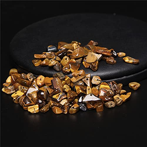 AFANGMQ Cuentas de Ojo de Tigre Natural Amarillo Nugget de Grava Chips de Piedra Irregulares Fichas Sueltas para joyería Hacer Bricolaje Collar de Pulsera
