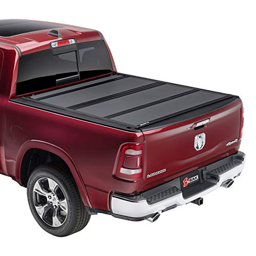 "BAK BAKFlip MX4 Hard Folding Truck Bed Tonneau Cover | 448207 | Fits 2009-2018, 19/20 Classic Dodge Ram 2019 2500-3500 5' 7"" Bed (67.4"")"