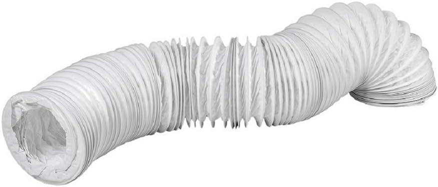 Tubo de salida de aire de PVC de 100 mm de diámetro y 6 m de largo, para instalaciones de aire acondicionado, secadoras y campanas extractoras