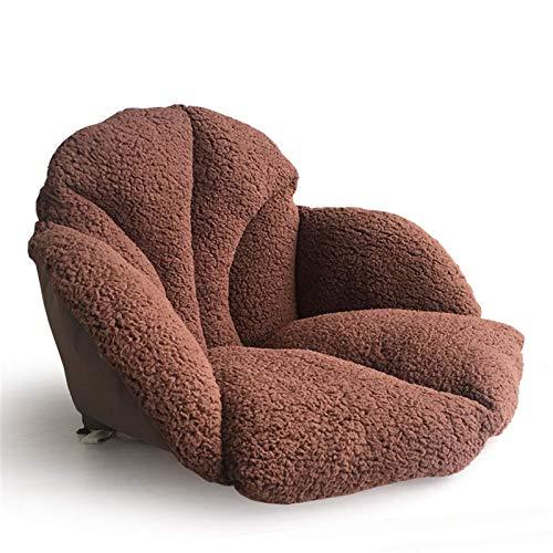 MissZZ Almohadillas de algodón para Asiento con Fondo Antideslizante, Cojines Suaves para Silla de sofá, Respaldo para sillón, Silla, Silla de Oficina, Cojines de Lana de Invierno