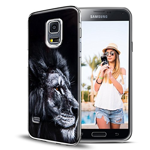 Conie PC33744 Picture Case Kompatibel mit Samsung Galaxy S4 Mini, Rückschale mit Motiven Silikon TPU Backcover für Galaxy S4 Mini Bumper Motiv Löwe