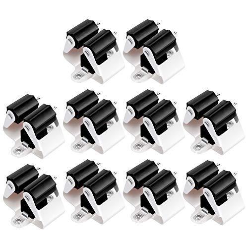 3-H Gerätehalter Besenhalter Wandhalterung Besenhalter Wand rostfrei optimale Aufbewahrung Aller Geräte Haushaltsgeräte - besenhalterung(Schwarz 10er)