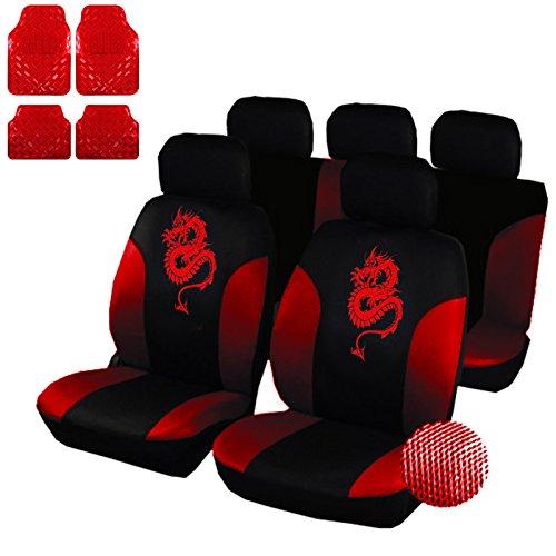 eSituro SCMS0010-X Sitzbezüge für Auto mit Fußmatten Set