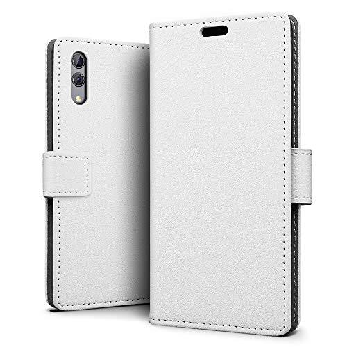 SLEO Hülle für Xiaomi Black Shark 2/2 Pro Hülle, PU lederhülle [Vollständigen Schutz] [Kreditkartenfach] Flip Brieftasche Schutzhülle im Bookstyle - Weiß