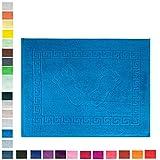 Mixibaby Duschvorleger Badvorleger Badematte Badteppich 700 g/m² Frottee 50x70 cm, Farbe:Blau