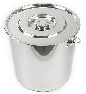 Seau de 20 litres en acier inoxydable avec couvercle en acier inoxydable