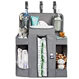 Large Hanging Diaper Caddy Organizer Playard or Wall Crib Organizer Diaper Stacker for Changing Table or Wall Nursery Organizer and Storage Stand Diaper Holder Baby Shower Gifts Boy and Girl