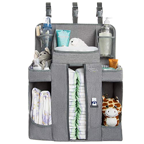 Large Hanging Diaper Caddy Organizer Playard or Wall Diaper Stacker Crib Diaper Organizer for Changing Table or Wall Nursery Organizer and Storage Stand Diaper Holder Baby Shower Gifts Boy and Girl