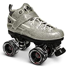 New Vegan Rock GT50 Sparkle boots with soft padded collar and tongue High strength Rock plates, aluminum, trucks, urethane cushions Rock 62mm/95a Swirl speed wheels with Abec 5 speed bearings and adjustable stoppers Available in black or silver in Me...