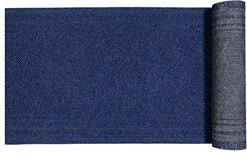 CASA TESSILE Rig Tappeto passatoia su Misura h 68 cm e Lungo a Misura - Blu