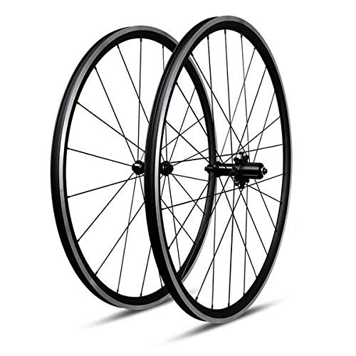 Triaerowheels 27mm Deep Tubeless Ready Straight Pull CNC Aluminium Road Bike Wheel Set 6 Locks Hub Pillar Spokes