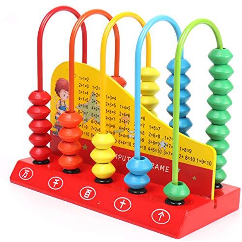 Holzabakus für Kinder, Mathematikspielzeug, Lernspielzeug, Mathematik, Zählperlen,...