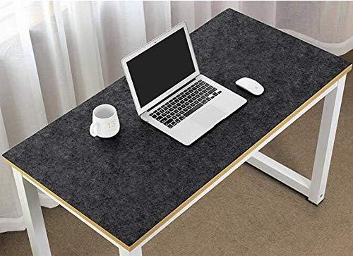 Erweiterte große Schreibtischunterlage aus Filz, ultradick, antistatisch, für Maus und Tastatur, Gaming-Pad, Schreiben, Laptop, Matte, rutschfest, für Büro und Zuhause, 80 x 40 cm, Dunkelgrau