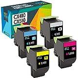 Do it Wiser Kompatible Toner als Ersatz für Lexmark CX410de CX510de CX410dte CX410e CX510dthe CX510dhe 80C2HK0 80C2HC0 80C2HM0 80C2HY0 (4er-Pack)