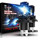 MZS H4 LED Bulb, 12000LM Wireless Instant...