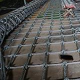 Red de Cuerda de Escalada Balcón Escalera Barandilla Red de Protección Cuerda Tejida Resistente Red de Remolque de Carga Red de Nailon Impermeable para Niños Columpio de Patio(Size:2*8m/6.6*26.2ft)