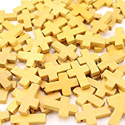 Wooden Cross Beads for Sunday School Crafts