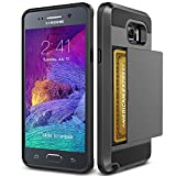 tekSonic Note 5 Case, Samsung Galaxy Note 5 Case (Gunmetal) Armor Series [Card Slide Slot][Drop Protection][Heavy Duty][Wallet] Full Cover Protection Tough Case for Samsung Galaxy Note 5 (Gunmetal)